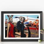They were leaving on a jet plane and didn't know when they would be back again Ltd Ed Giclee Print