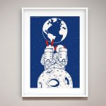 There is no place like earth Ltd Ed Giclee Print