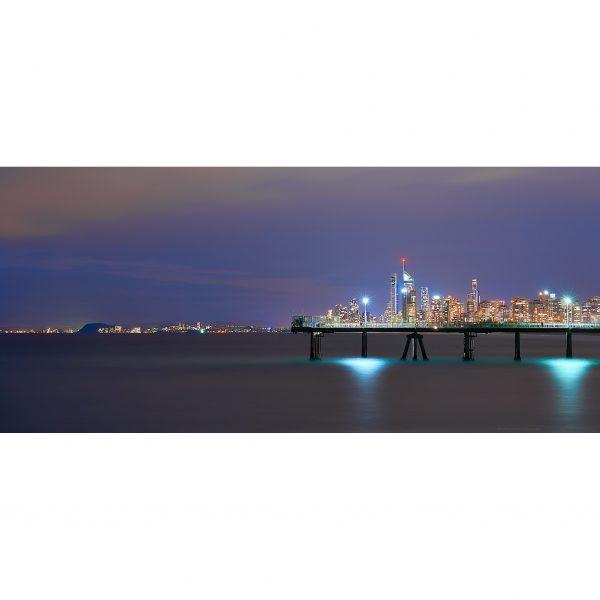Pier City By Night Sq