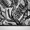 Wattle Bird Linocut Closeup 2 Copy