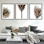 Dried Protea Flower Triptych