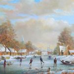 Winter Scene (with bridge over canal)