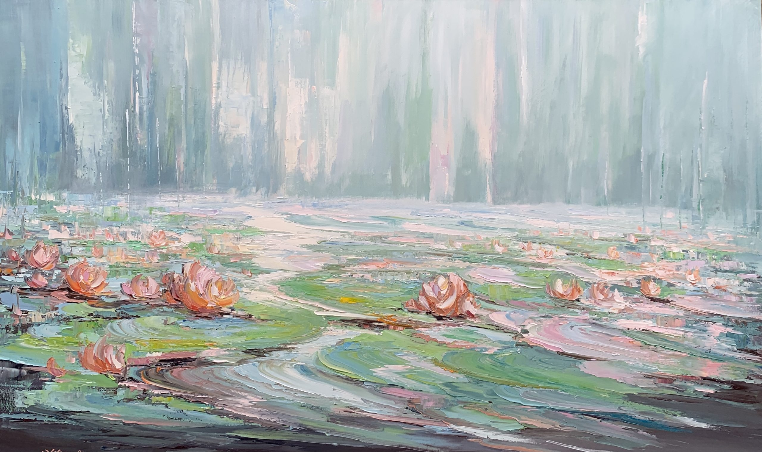 281 Water Lilies 45, 152x91cm