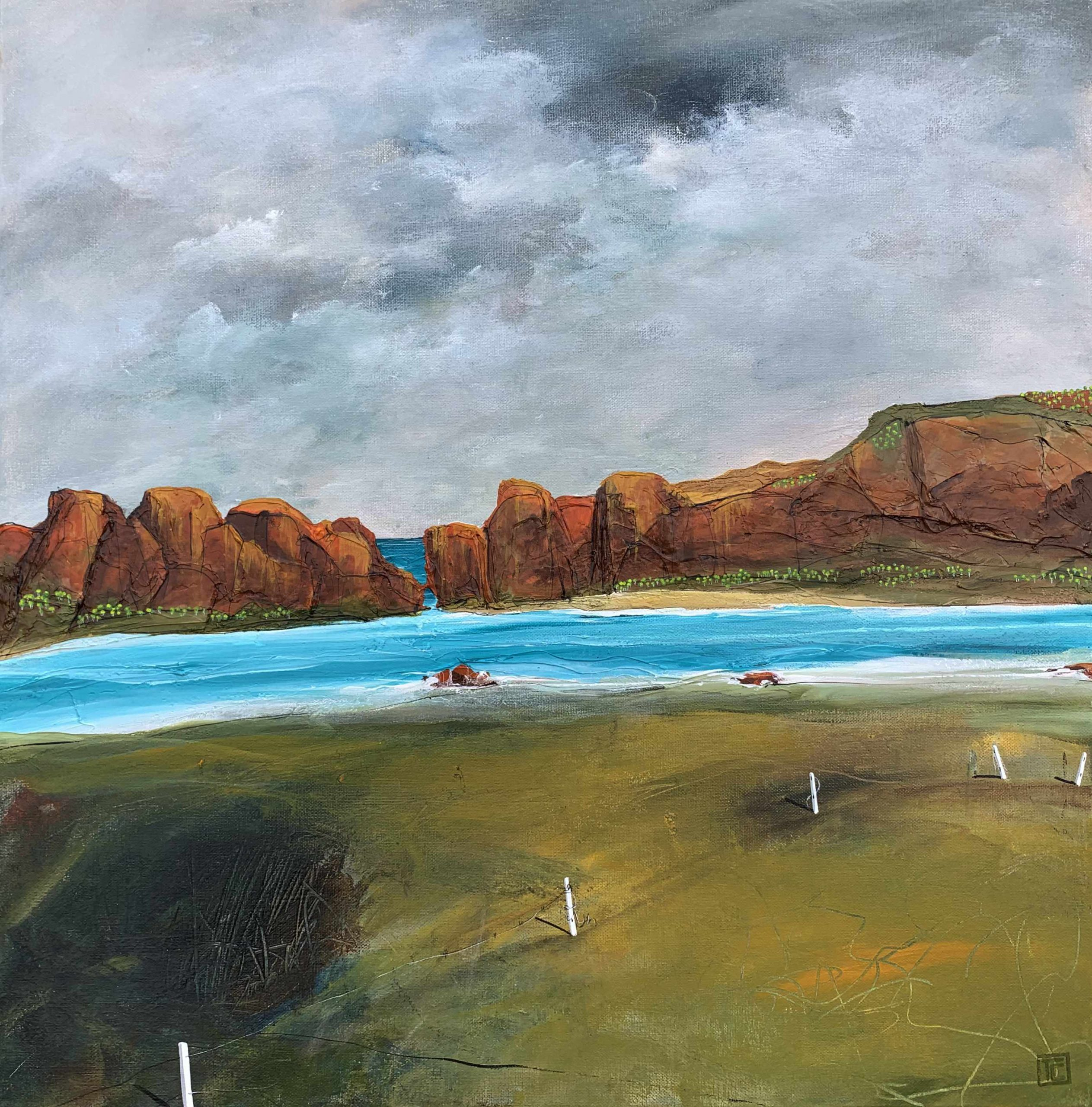 61×61 Tania Chanter Tidal Mouth Landscape Painting