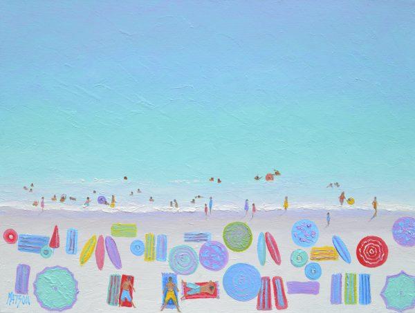 Beach Scene A Happy Day, Beach Painting By Jan Matson