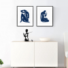 Blue Nude Diptych Cabinet