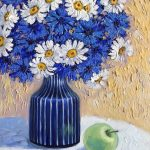 Cornflowers and Daisies Still Life