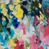 Crazy Love Floral Abstract Painting By Artist Amber Gittins Crop 1
