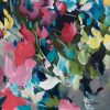 Crazy Love Floral Abstract Painting By Artist Amber Gittins Signature
