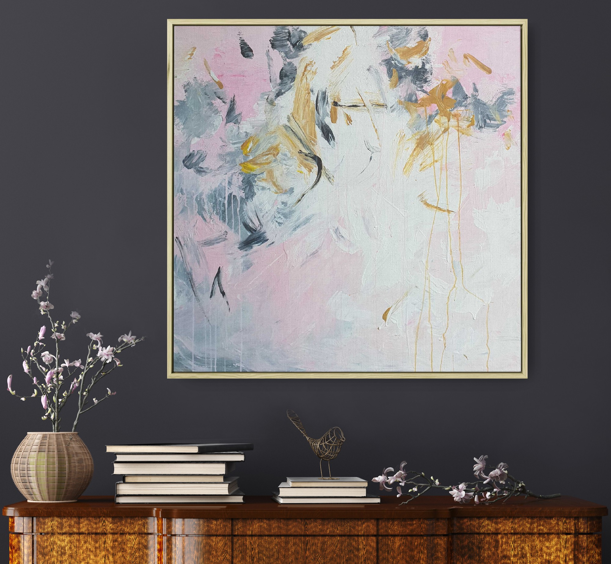 Gabriela Azar Schreiner Large Painting Abstract Art 11dg4