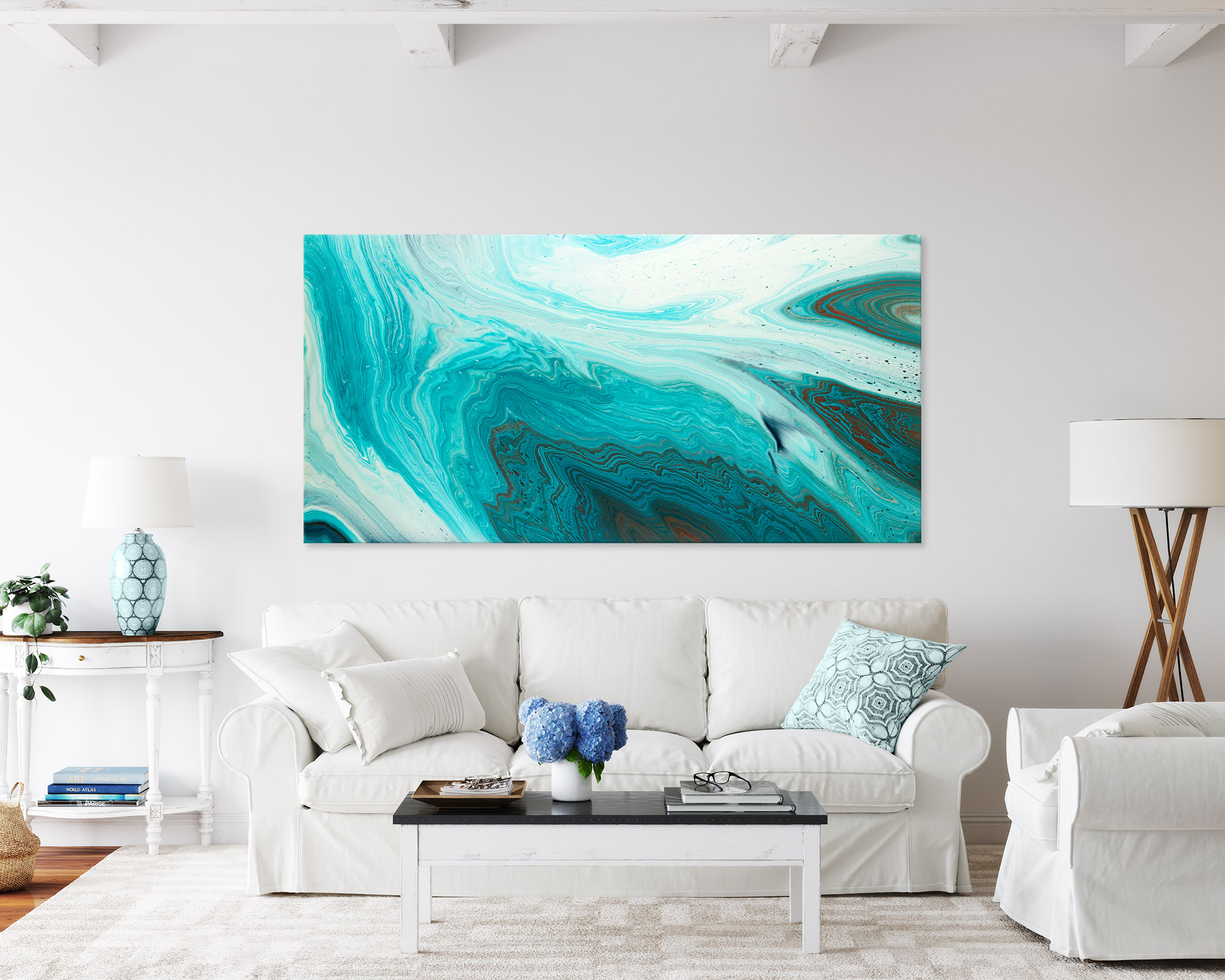Large Teal Abstract Painting Essence Beneath The Surface By Michelle Tracey