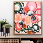 Love My Way – Framed 63x53cm – Abstract Flowers