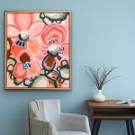 Love To Dream – Framed 63x53cm – Abstract Flowers