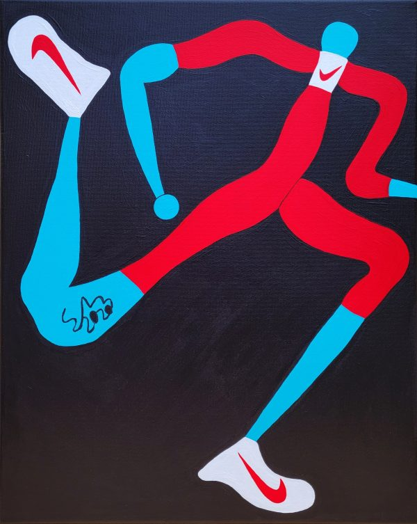 Mr. Nike 2020 Acrylic On Canvas 40.6cm X 50.8cm X 1.5cm