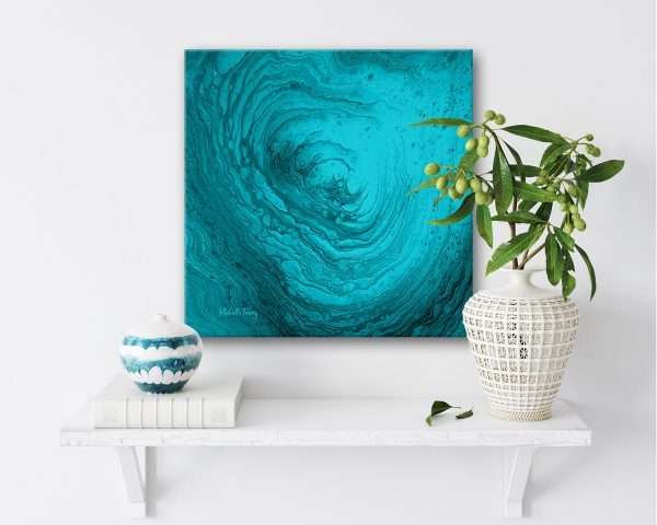 Ocean Abstract Painting Oceans Sacred Breath By Michelle Tracey