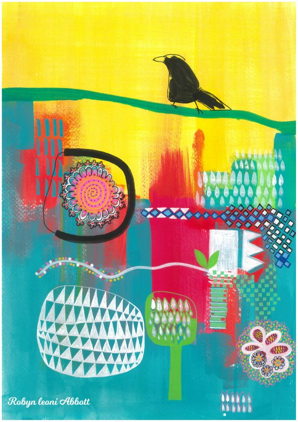 On Top Of It All Bird Art By Robyn Leoni Abbott