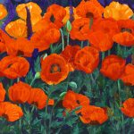 Orange oriental poppies Ltd Ed Print