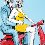 She felt extra sexy today after he bought her a new dress Ltd Ed Giclee Print