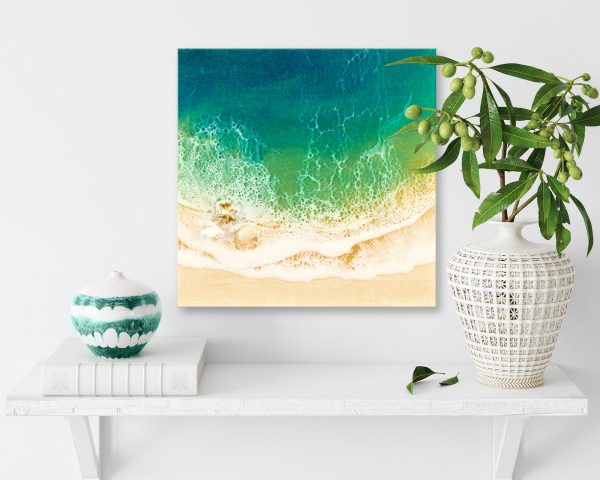 Small Ocean Resin Artwork Peace Haven By Michelle Tracey