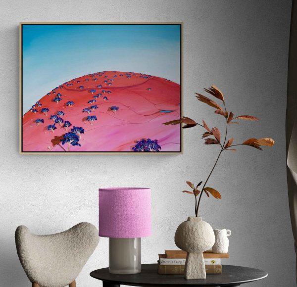 Tania Chanter Blue Morining Blush Australian Art Landscape