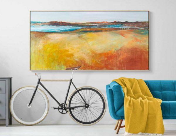 Tania Chanter Summer Light Australian Landscape Large Abstract Paintings Art Lovers Australia