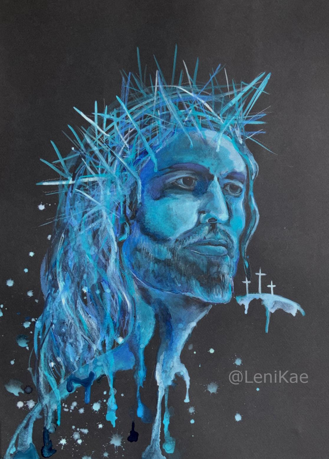 Artist Leni Kae Jesus Modern Art Painting Www.lenikae.com.au
