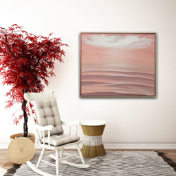 Peachy Seascape Painting Alanah Jarvis Red Room