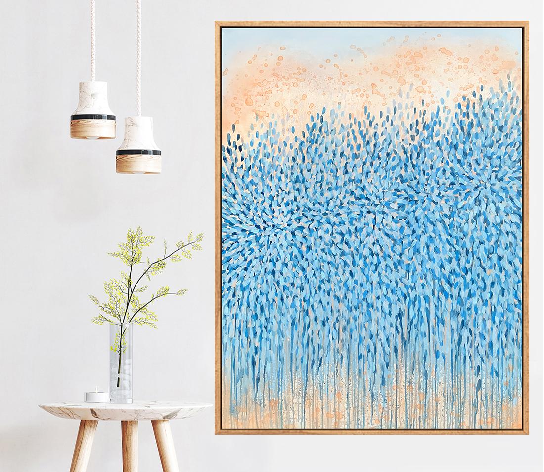 Sydney Artist Leni Kae The Thought Of You At Sunrise Interiordesignart Living Room