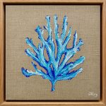 Sea Blue Coral 1 – Ocean Coral and Seaweed Collection