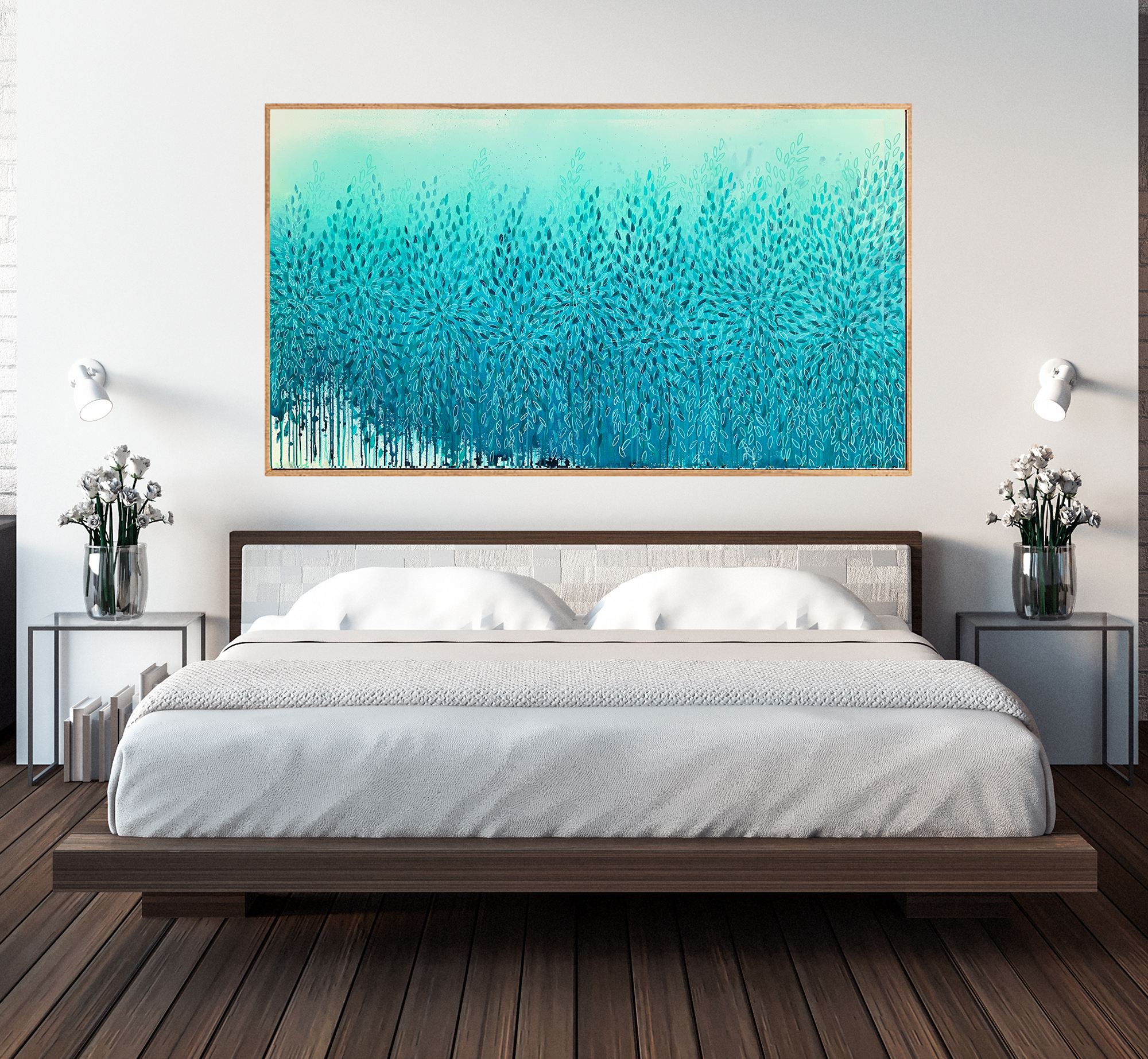 1a.bedroom Interior Design Artist Leni Kae Through Truth And Trust Abstract Landscape