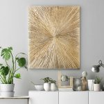 Gold Universe – small minimalist abstract