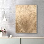 Gold Abstract – minimalist painting