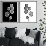 Silver Dollar Diptych ~ Black and White