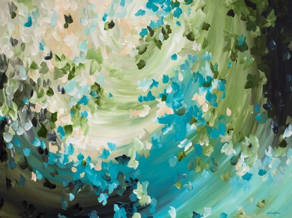 Butterfly Swirls Abstract Painting By Amber Gittins
