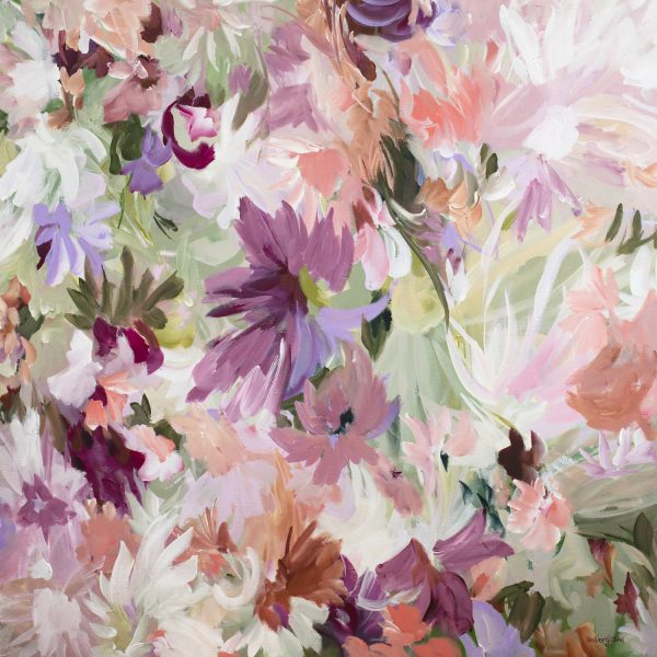 Candy Blooms Pastel Floral Painting By Amber Gittins