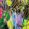 Carita Farrer Spencer Fancy Floral Detail #2 110 X 80cm Acrylic On Canvas Jpg