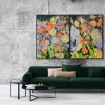Floral Road (diptych)