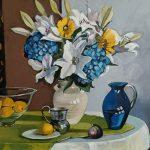 Hydrangeas and Lillies