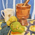 Still life with mortar and pestle