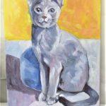 Olga the Russian blue cat