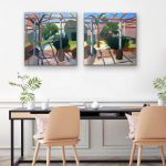 Under the Pergola at Abbotsford Convent – (Diptych)