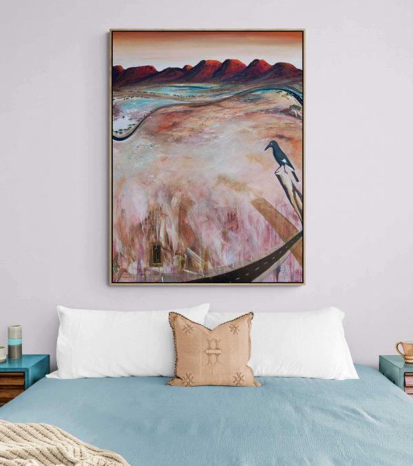 Love Is The Key Tania Chanter Large Abstract Landscape Australiana