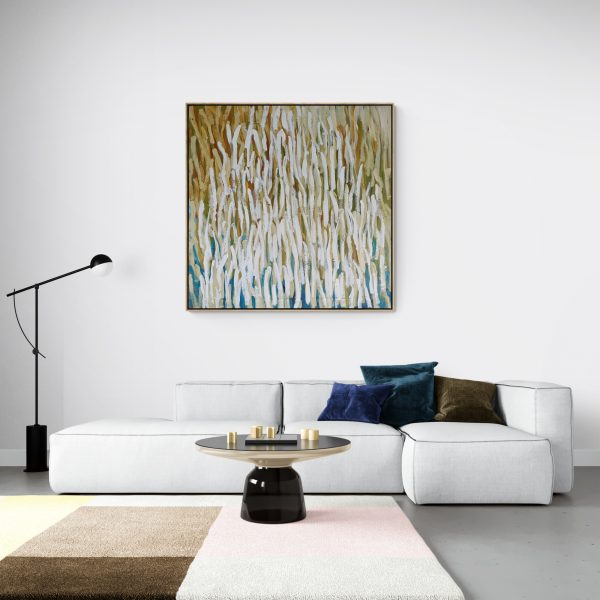 Modern Living Room With Large Colorful Rug