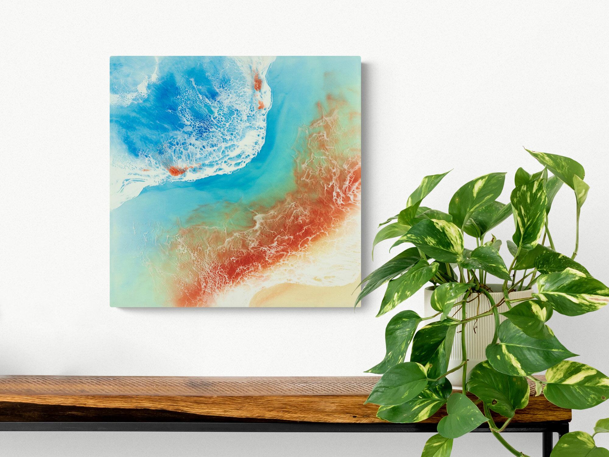 Ocean Resin Art Metallic Copper Blazing Beauty By Michelle Tracey
