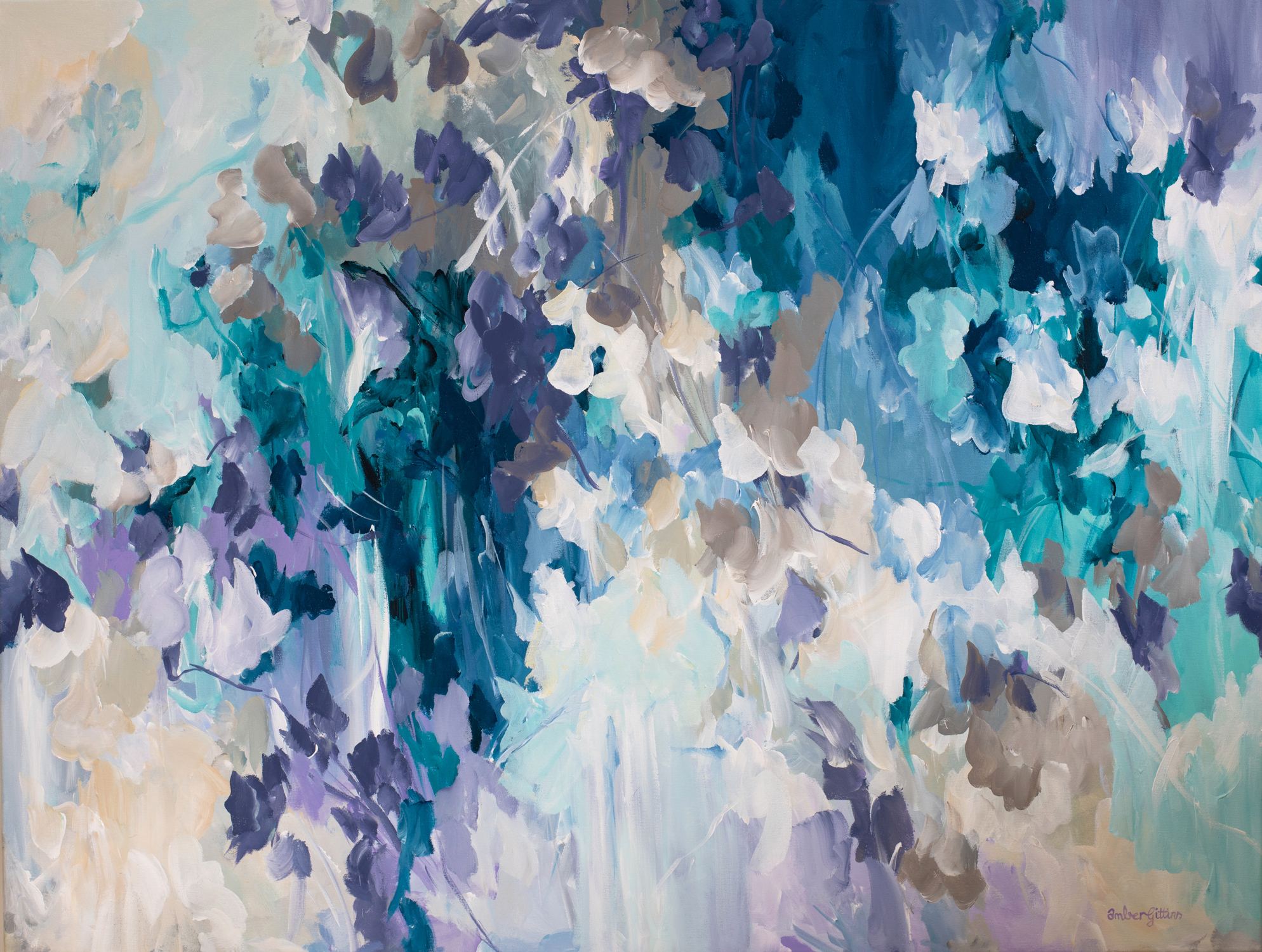 Orchid Rains Abstract Painting