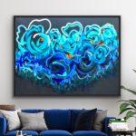 Sapphire Coast – Ltd Ed Print Black Timber Framed