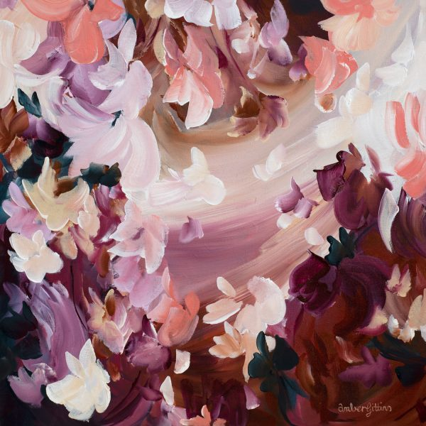 Sweet Blooms Pastel Floral Painting By Amber Gittins