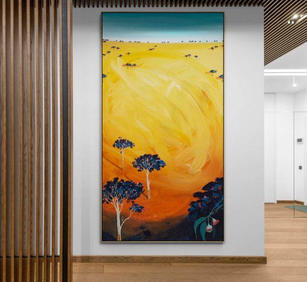 Tania Chanter Blossom Sunrise Large Painting