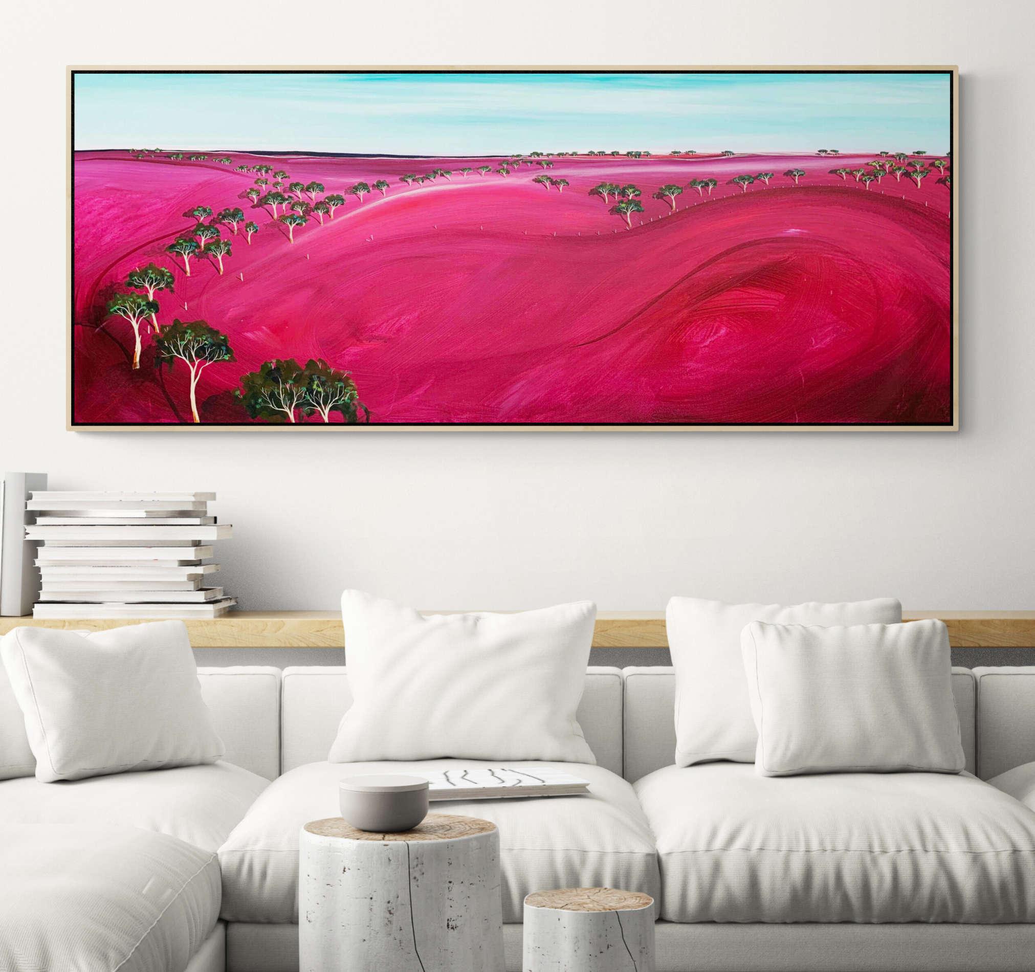 Tania Chanter Low Plains Blush Landscape Artwork