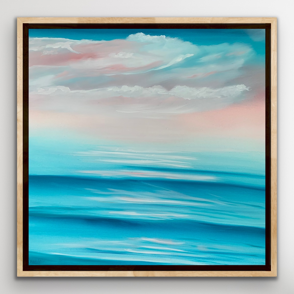 Alanah Jarvis On White Wall Ocean Painting